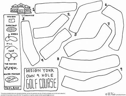 Golf Own Coloring Pages Hole Printable Course