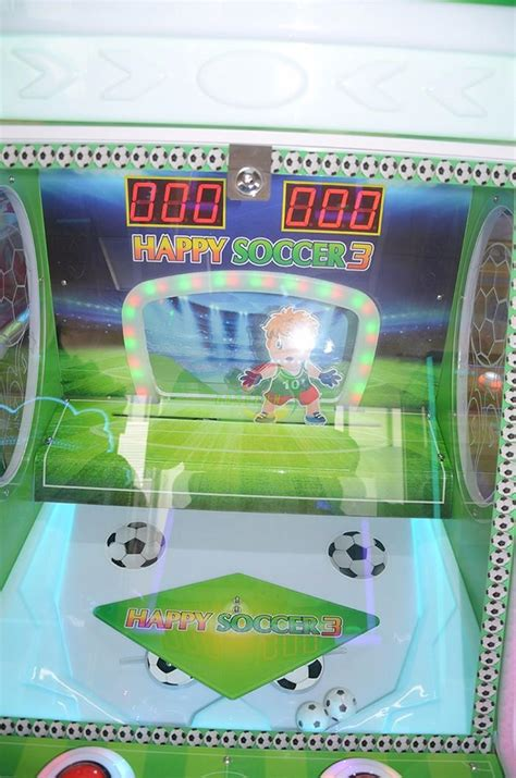 happy soccer kids coin operated shooting prize game