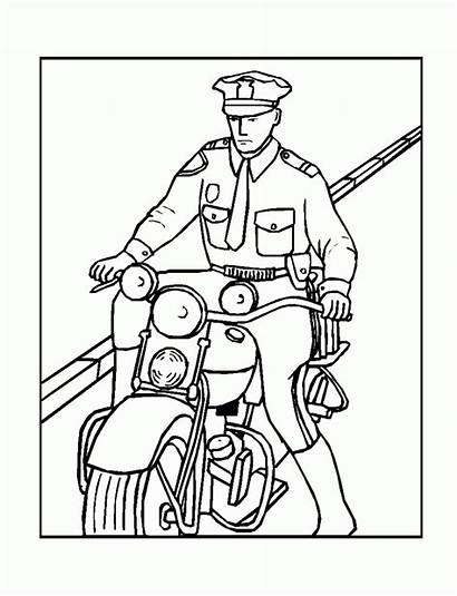 Coloring Police Policeman Pages Badge Printable Officer
