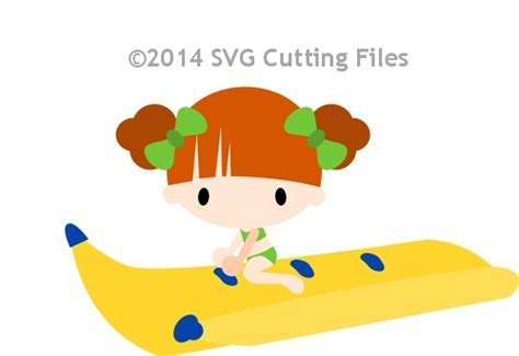 Banana Boat Girl by Kid Svg Files For Sure Cuts A Lot Svg Files Scal Files