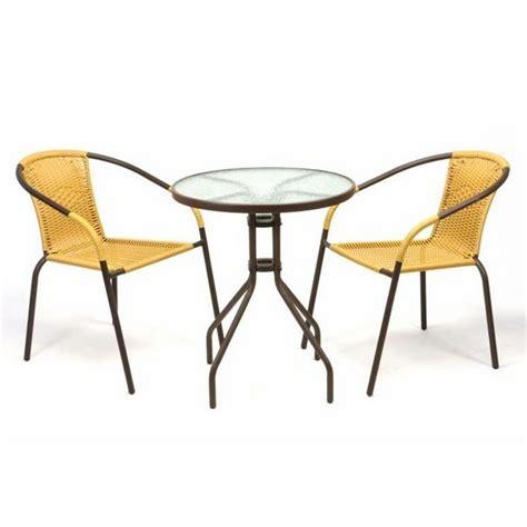 Tavoli E Sedie Da Bar by Set Bistrot Tavolo E 2 Sedie Gialle Per Arredamento