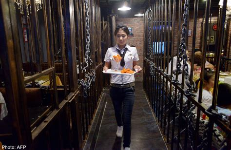 sports themed room it 39 s hunger at prison themed restaurant in china