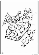 Coloring Sled Printable Sledding Snow Getcolorings Winter Kid sketch template