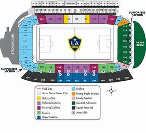La Galaxy Stadium Map