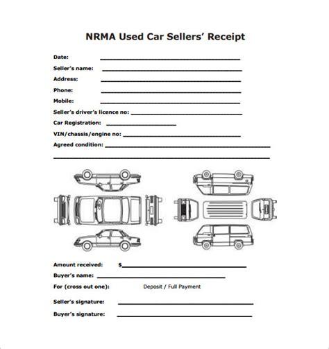 car sale receipt templates    premium