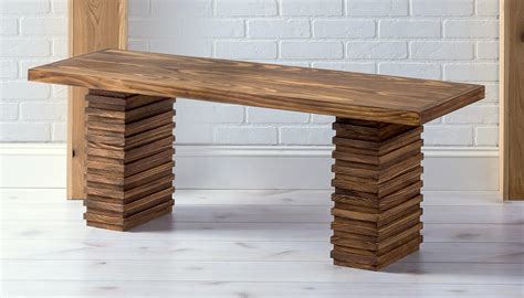 crate furniture bench crate and barrel inspired modern wooden bench diy