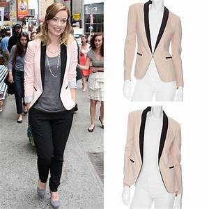 17 Best images about Tuxedo Jacket Outfits on Pinterest | White blazers Womenu0026#39;s tops and Blazers