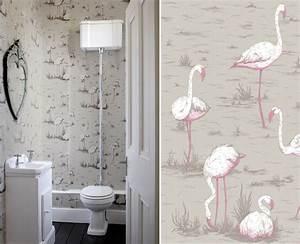Papier Peint Pour Wc : quel papier peint pour des toilettes blog au fil des ~ Nature-et-papiers.com Idées de Décoration