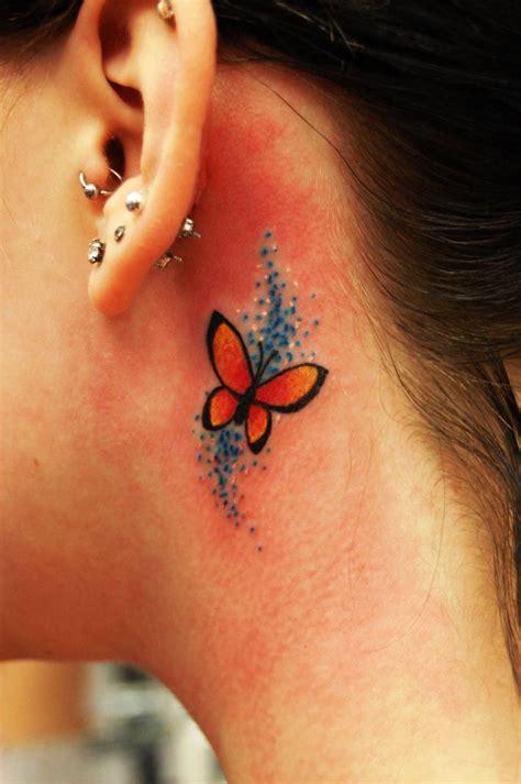 small ear tattoos  women flawssy