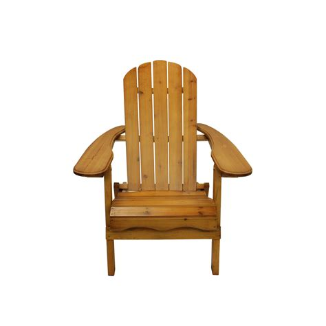 40 quot brown wooden folding outdoor patio adirondack chair