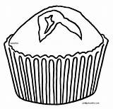 Muffin Coloring Clipart Blueberry Comments Clipartmag sketch template