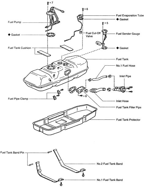 2004 Ford F150 Fuel Tank Diagram by Repair Guides Fuel Tank Tank Assembly Autozone