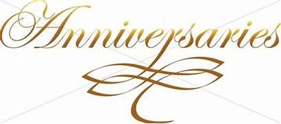 Anniversaries Elegant Golden Script Anniversary Christian Clipart