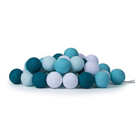cotton balls lichterkette aqua lichterkette cotton lights