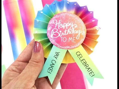 DIY Birthday Button YouTube