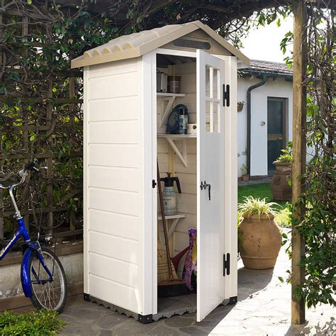 vielseitiges kleines gartenhaus aus wetterbest 228 ndigem kunststoff grote shop