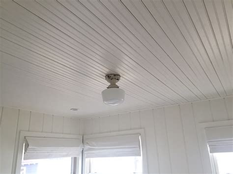 Tongue And Groove Beadboard Ceiling : Beadboard Ceiling Install