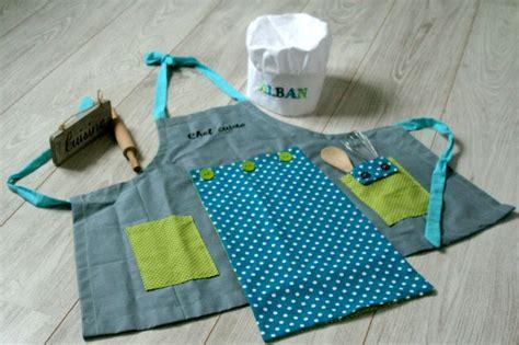 tablier et toque de cuisine pour enfant technique et patron couture cuisine