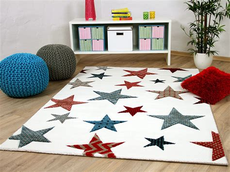 Kinder Und Jugend Teppich Maui Creme Sterne Bunt Teppiche