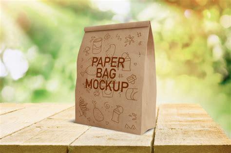 Simple edit with smart layers. Premium PSD   Fast food paper bag mockup
