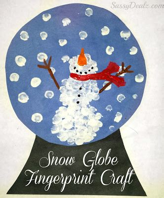 list of easy snowman crafts for to make crafty morning 497 | snow globe fingerprint craft