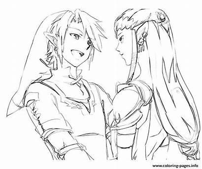 Pages Zelda Coloring Princess Twilight Link Legend
