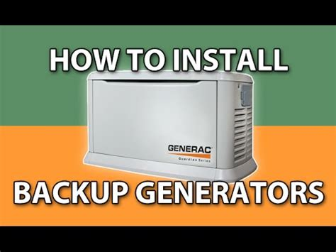 How To Install Backup Generators