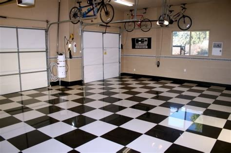 With These Garage Floor Tiles Made Of Porcelain