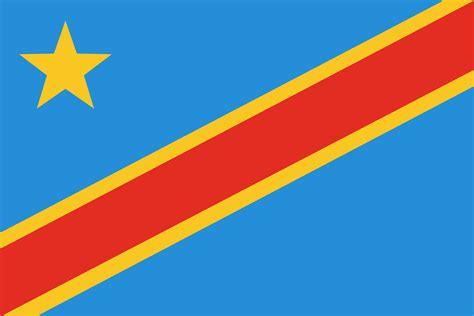 flag  democratic republic   congo  clipart
