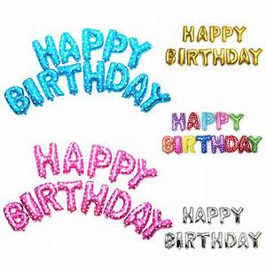 aliexpresscom buy 40cm happy birthday letters balloons With happy birthday foil balloon letters
