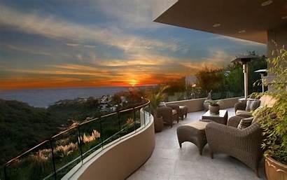 Balcony Sunset Homes Ocean Views Fantasy