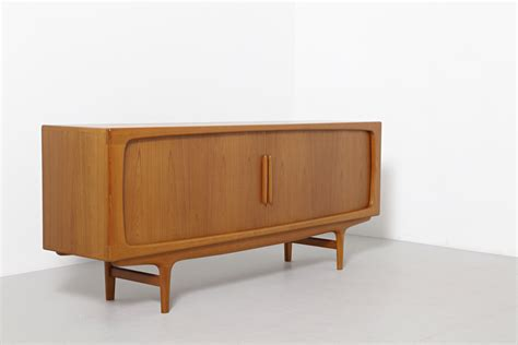 Low Sideboard by A Low Sideboard With Tambour Doors Dyrlund Archive
