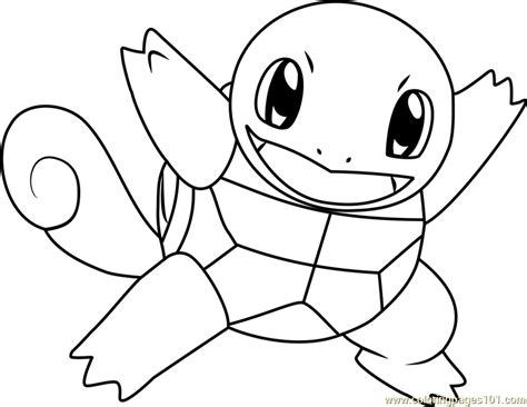 Squirtle Kleurplaat by Squirtle Coloring Page Free Pok 233 Mon Coloring