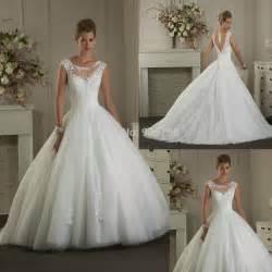 bateau neckline wedding dress aliexpress buy modern illusion bateau neckline cap sleeve gown lace wedding