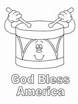 Coloring Pages Presidents Election Bless God America Preschool Word Printable Sheets Print Getcolorings Se sketch template