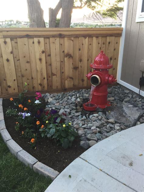 fire hydrant water fountain backyard dog area diy water