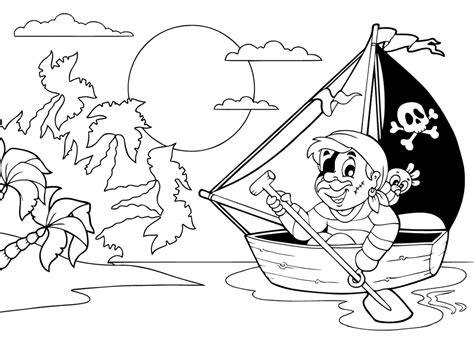 Kleurplaat Boot by Kleurplaat Bootje