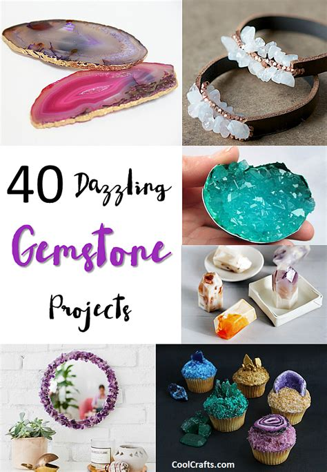 40 Dazzling Diy Gemstone Projects • Cool Crafts