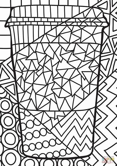 Pop Coloring Paper Pages Cup Printable Saluki