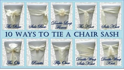 10 ways to tie a chair sash sweet tea proper