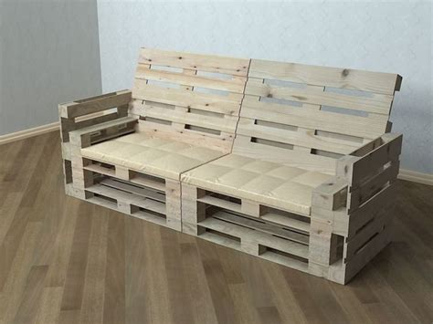 Pallet Settee by Pallet Sofa 3d Cgtrader