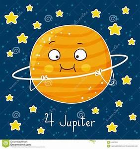 Cute Cartoon Jupiter Stock Vector - Image: 64027218