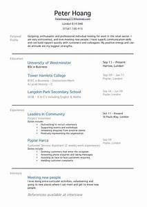 Sample college student resume no work experience sample for First time employment resume