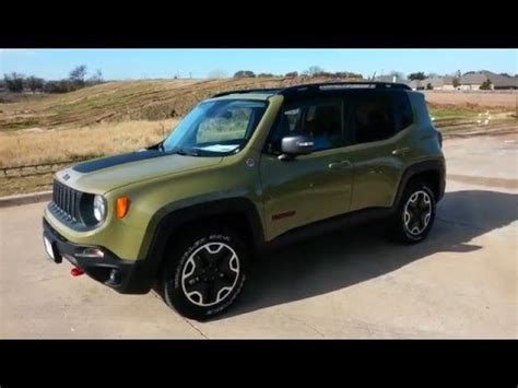 green jeep renegade all new commando green 2015 jeep renegade trailhawk 4x4