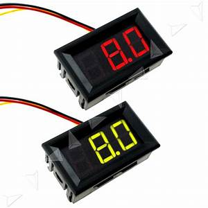 Green  Red Led Digital Display Volt Meter Voltage Voltmeter
