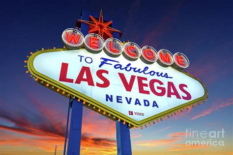 welcome to las vegas sign at wide photograph by aloha
