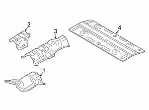 2015 Ford Edge Floor Pan Heat Shield  Rear  Upper  Lower   Liter  Tunnel  Muffler