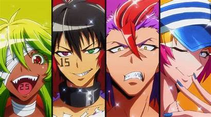 Nanbaka Anime Uno Gifs Desenhos Rock Niko