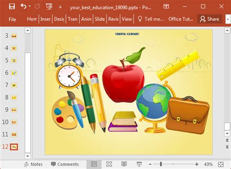 templates educacion education clipart fppt