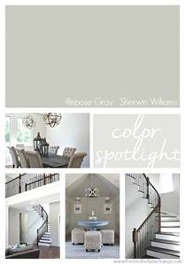 home interior paint schemes repose gray from sherwin williams color spotlight